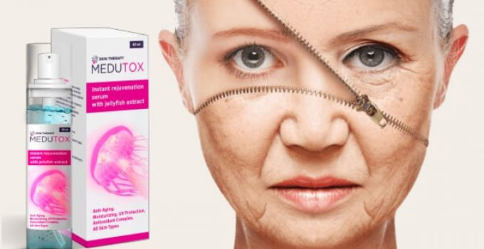 medutox serum, woman, anti-aging skin