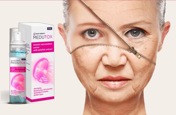 medutox serum, woman, anti-aging skin