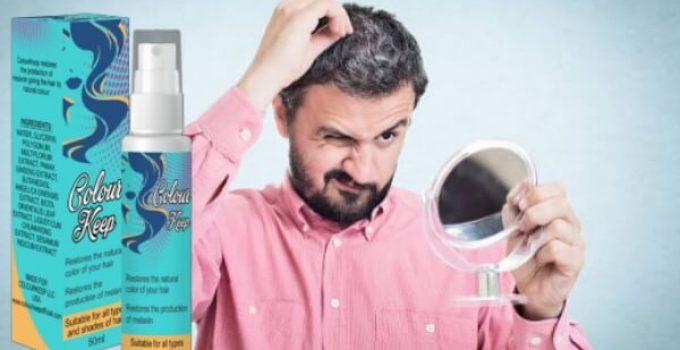 Colour Keep Spray, grey hair, gray colour, man