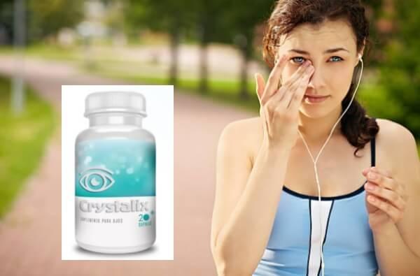 crystalix capsules, woman, eyes, vision